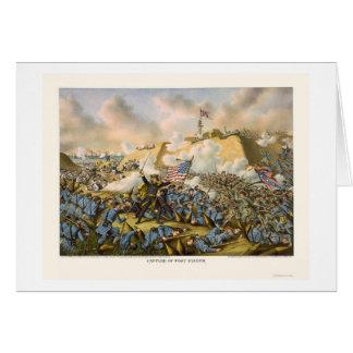 Cartes L'union capture le fort Fisher par Kurz et Allison