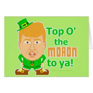 Cartes Lutin drôle 2016 de st patrick de Donald Trump