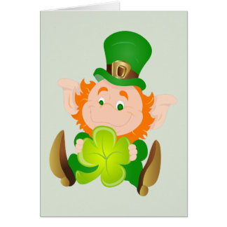 Cartes Lutin du jour de St Patrick heureux