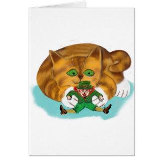 Cartes Lutin emprisonné par les pattes d'un chaton