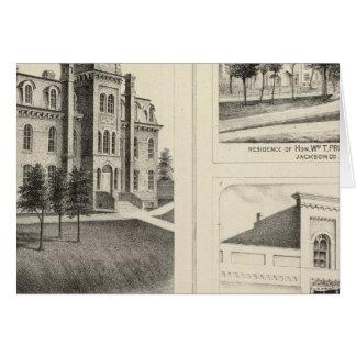 Cartes Lycée des syndicats, résidence et banque du comté