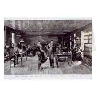Cartes M. Edison, l'électricien éminent