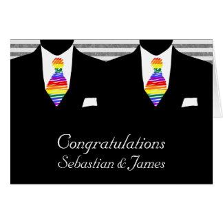 Cartes M. et M., deux mariés épousant des félicitations