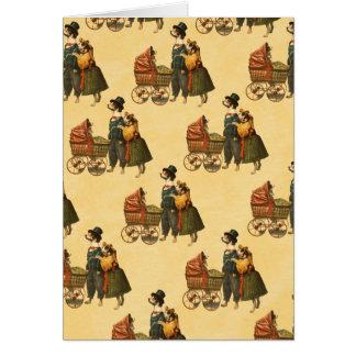 Cartes M. et Mme Dog et papier peint vintage 1899 de