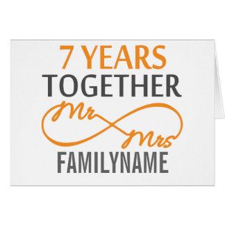 Cartes M. et Mme faits sur commande 7ème anniversaire