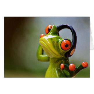 Cartes M. Frog avec des écouteurs