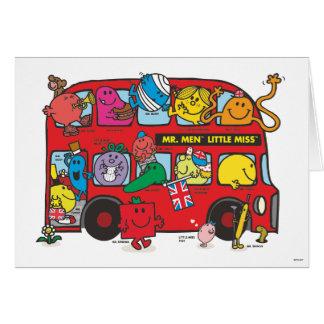 Cartes M. Men et petit Bus de Mlle Crowded