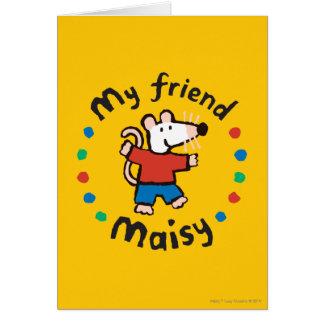 Cartes Ma conception colorée de cercle de Maisy d'ami