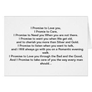 Cartes Ma promesse à vous