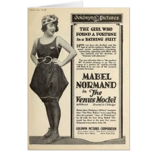 Cartes Mabel Normand 1918 portraits de maillot de bain