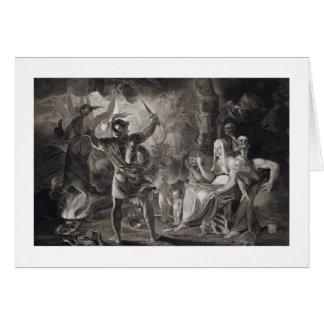 Cartes Macbeth, les trois sorcières et Hecate dans l'acte