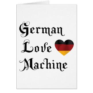 Cartes Machine allemande d'amour