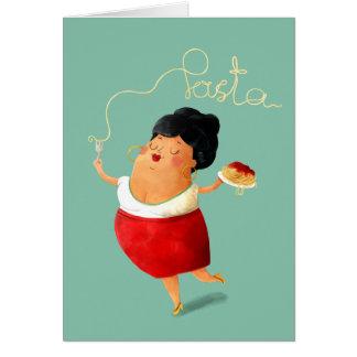 Cartes Madame affectueuse de pâtes