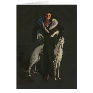 Cartes Madame Borzoi Card de Deco