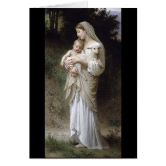 Cartes Madame Child Lamb d'innocence de Bouguereau