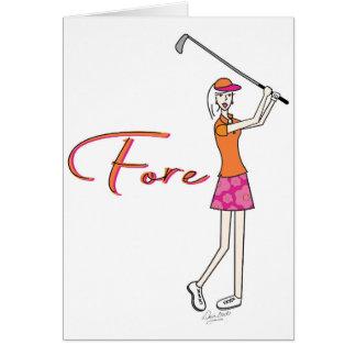 Cartes Madame Collection de plage de Golfer_Palm