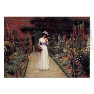 Cartes Madame dans un jardin - Edmund Blair Leighton