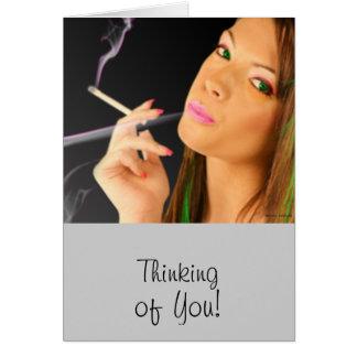Cartes Madame de tabagisme - effets au néon