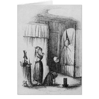 Cartes Madame d'une cinquantaine d'années dans la salle