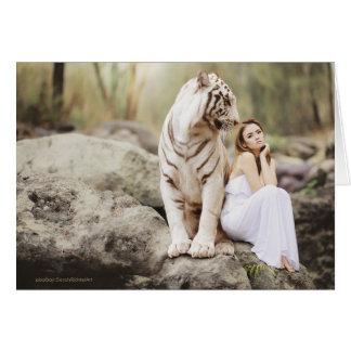 Cartes Madame et le tigre  --