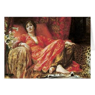 Cartes Madame étendue romantique Card