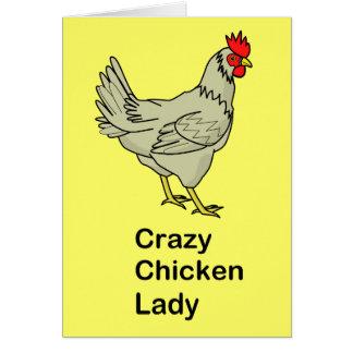Cartes Madame folle de poulet