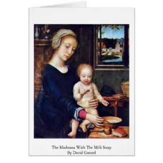 Cartes Madonna avec la soupe à lait par David Gerard