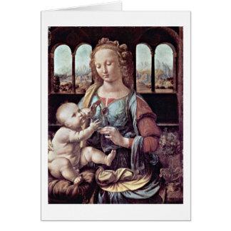 Cartes Madonna avec l'oeillet, par