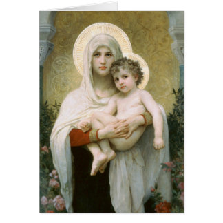 Cartes Madonna des roses par Bouguereau