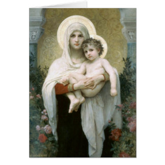 Cartes Madonna des roses - William-Adolphe Bouguereau