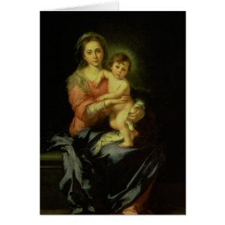 Cartes Madonna et enfant, après 1638