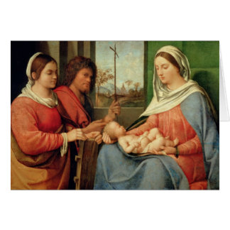 Cartes Madonna et enfant avec les saints 2