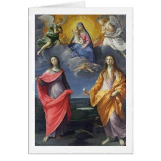 Cartes Madonna et enfant avec St Lucy et Mary Magdalene