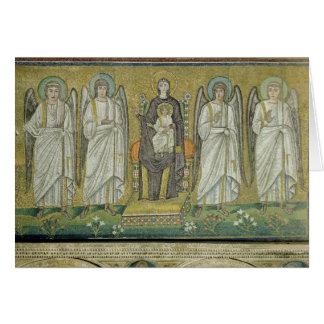Cartes Madonna et enfant couronnés par des anges