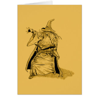 Cartes magicien avec le casquette aigu