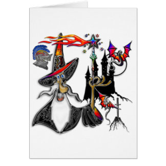 Cartes Magicien mystique magique de magicien du feu