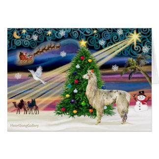 Cartes Magie de Noël - lama 2