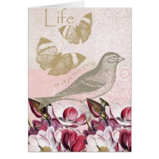 Cartes Magnolias romantiques