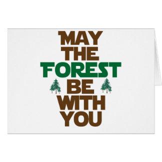 Cartes Mai la forêt soit avec vous