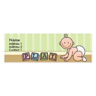 Cartes maigres de profil de bébé heures de récréat carte de visite petit format