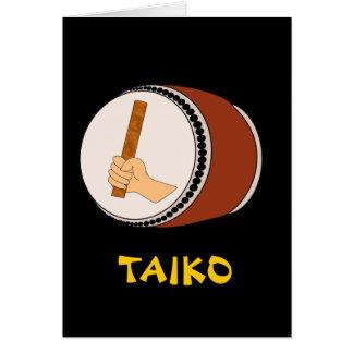 Cartes Main tenant la mise en tambour japonaise de