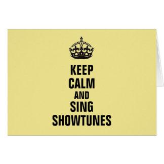 Cartes Maintenez calme et chantez Showtunes