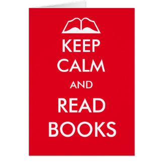 Cartes Maintenez calme et lisez les livres