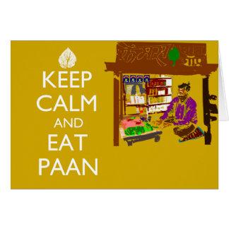 Cartes Maintenez calme et mangez Paan