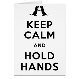 Cartes Maintenez calme et tenez les mains (les loutres