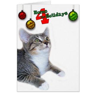 Cartes Maison 4 de délivrance de chat de Greyfoot la