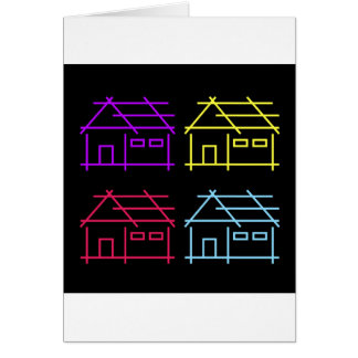 Cartes Maison abstraite pour l'entreprise d'immobiliers