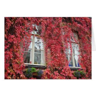 Cartes Maison bienvenue - couleurs d'automne