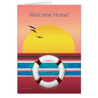 Cartes Maison bienvenue - de croisière