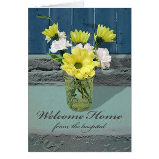 Cartes Maison bienvenue de l'hôpital, composition florale